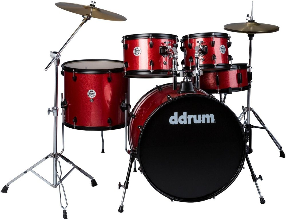 DDrum D2P - 5pc - Red Sparkle - Complete kit