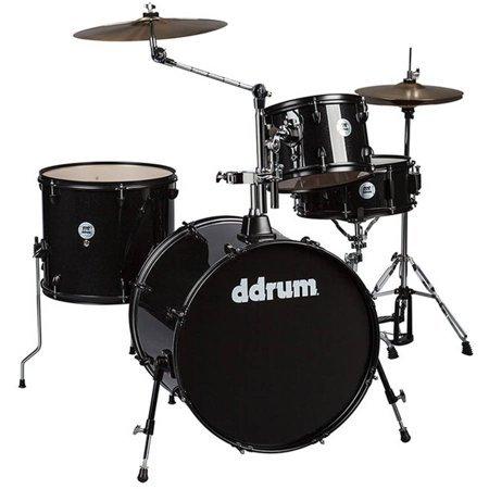 DDrum D2R - 4pc - Black Sparkle - Complete Kit