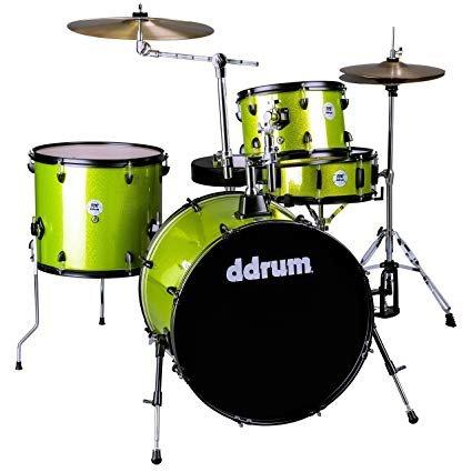 DDrum D2R - 4pc- Lime Sparkle - Complete Kit