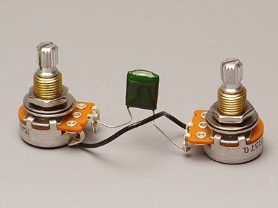EMG Short Split Shaft 25K Vol/Tone Pot Set w/Cap