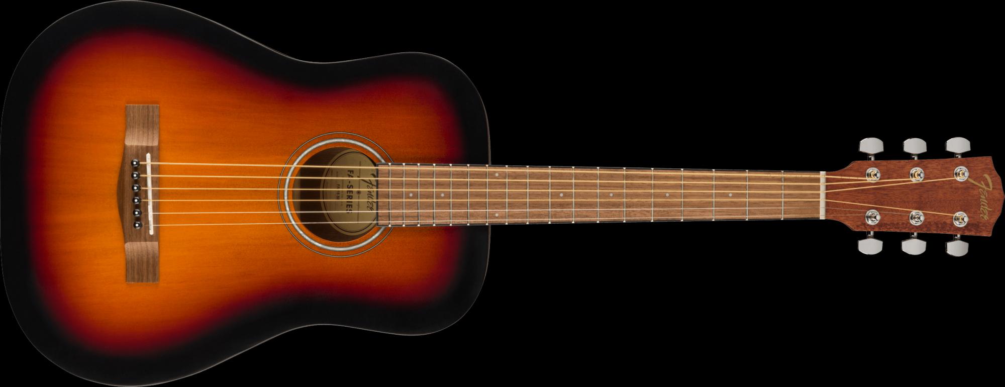 Fender FA-15 3/4 Scale Steel with Gig Bag, Sun Burst