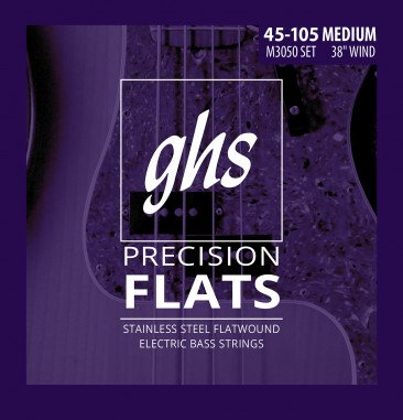 GHS Flatwound Medium Electric Bass Strings