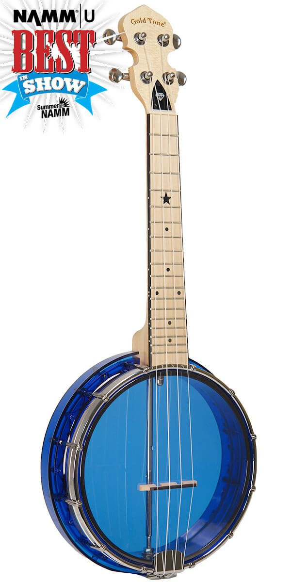 Gold Tone Little Gem Ukes 4-String Ukulele Blue with gig bag
