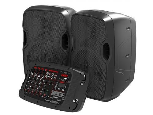 HH Electronics DEMO S2-210 640w Portable DJ PA Complete Speaker System With Mixer
