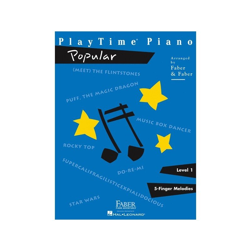Faber Playtime Piano - Popular - Level 1 - 5 Finger Melodies