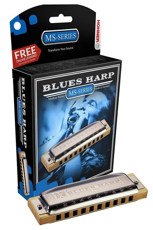 Hohner Blues Harp MS Modular System Diatonic Harmonica, F-major
