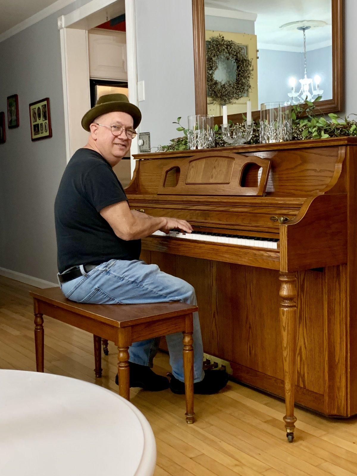 Bill Brown and a piano
