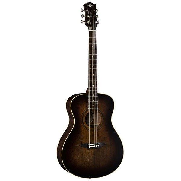 Luna Guitars Art Vintage Dreadnought Cutaway Acoustic-Electric Guitar Distressed Vintage Brownburst