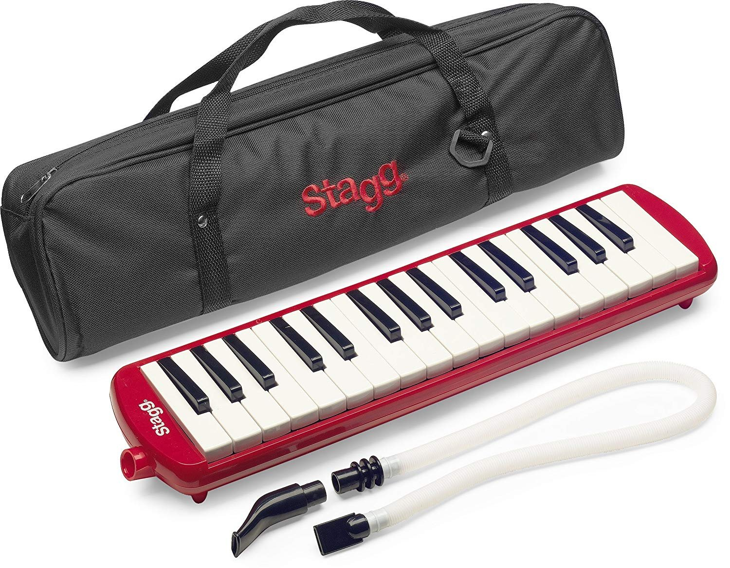 Stagg 32 Key Melodica - Red w/bag