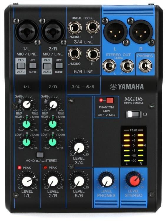 Yamaha MG06 6-CH Mixing Console