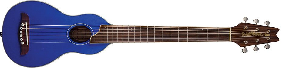 Washburn RO10STBLK Rover Travel Acoustic Guitar - Blue