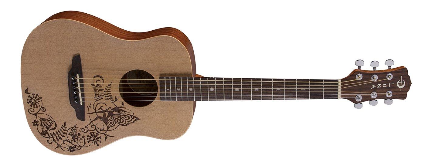 Luna Safari Fantasy Travel Guitar w/Gigbag