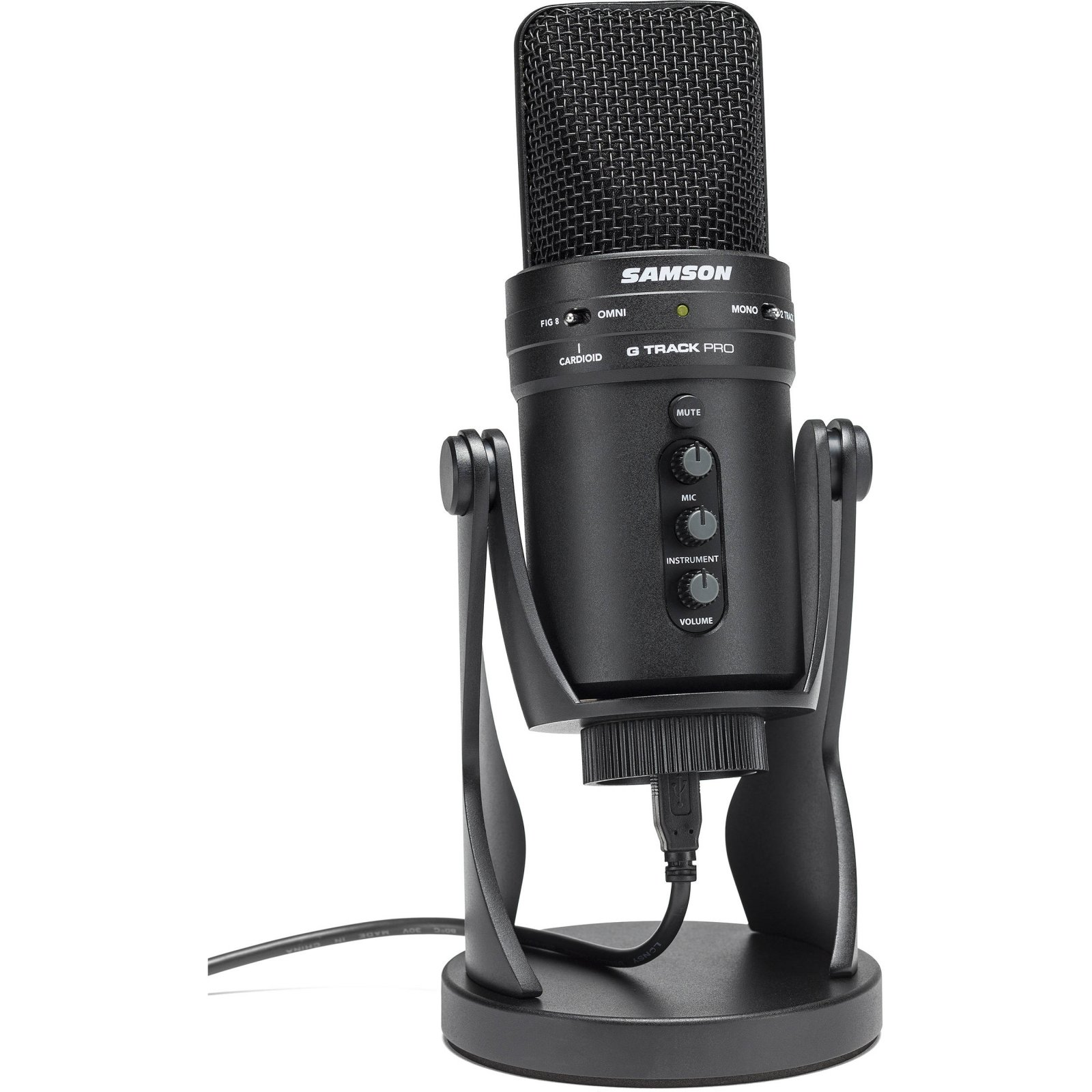 Samson G-Track Pro USB Microphone with Built-In Audio Interface (Black)