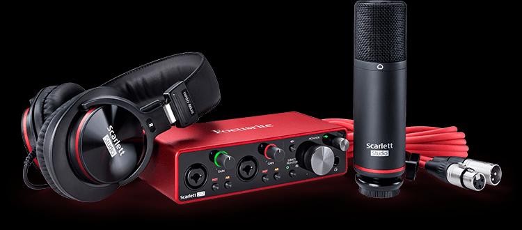 Focusrite Scarlett 2i2 Studio Bundle - Interface/Condenser Mic/Headphones