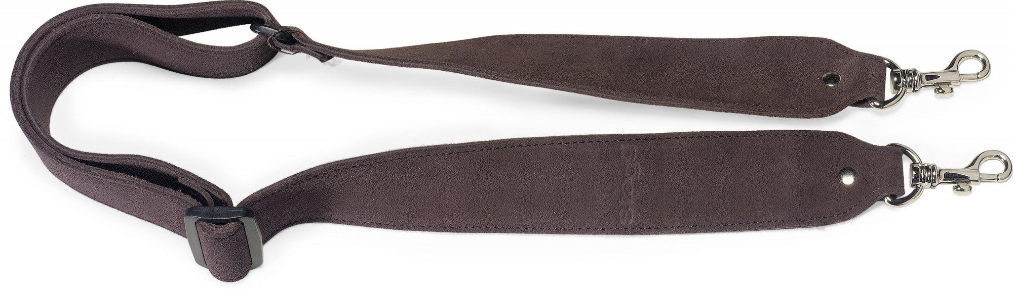 Stagg Suede Banjo Strap - Dark Brown
