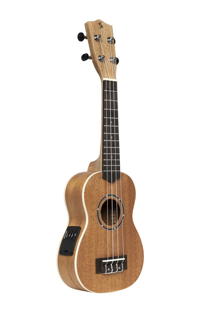 Stagg Acoustic-electric Soprano Ukulele with Sapele Top and Gigbag