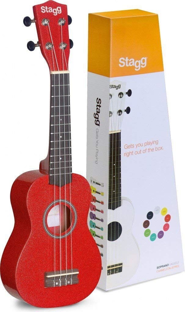 Stagg Soprano Ukulele Red w/Bag