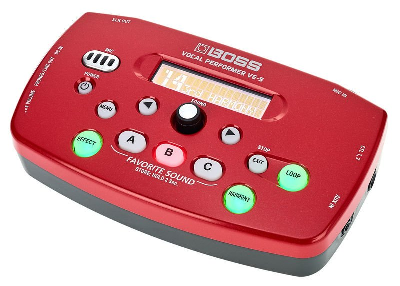 Boss VE-5 Vocal Performer Effect Processor - Red