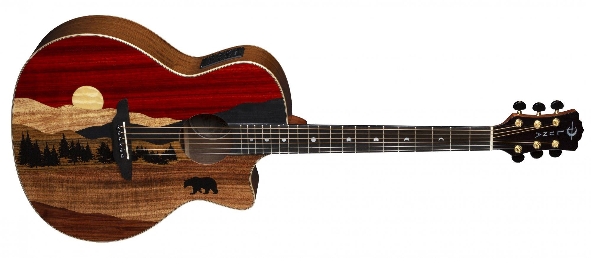 Luna Vista Bear Tropical Wood Acoustic/ELectric Guitar w/Hard Case
