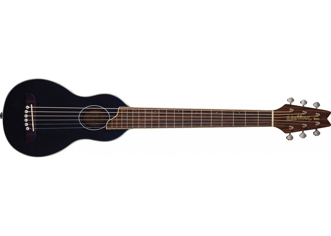 Washburn RO10B Rover Steel String Travel Acoustic Guitar - Black