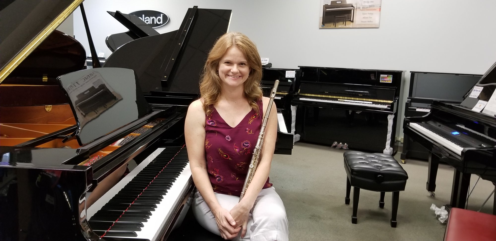 Wendy Curtis and a piano