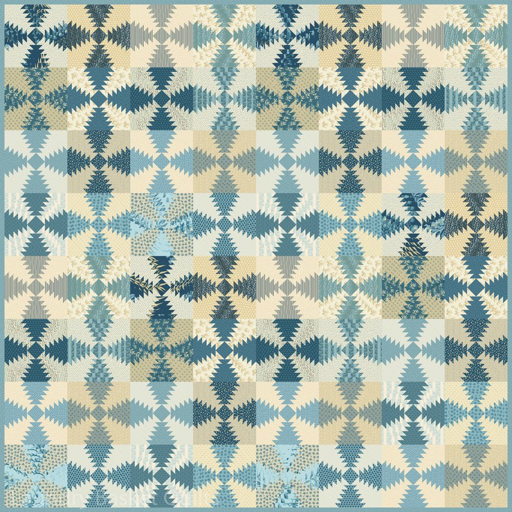 Blue Hawaiian Delight Pattern with 2 papers