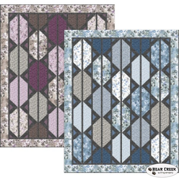 Counterpoint Quilt Kit in lavender colorway