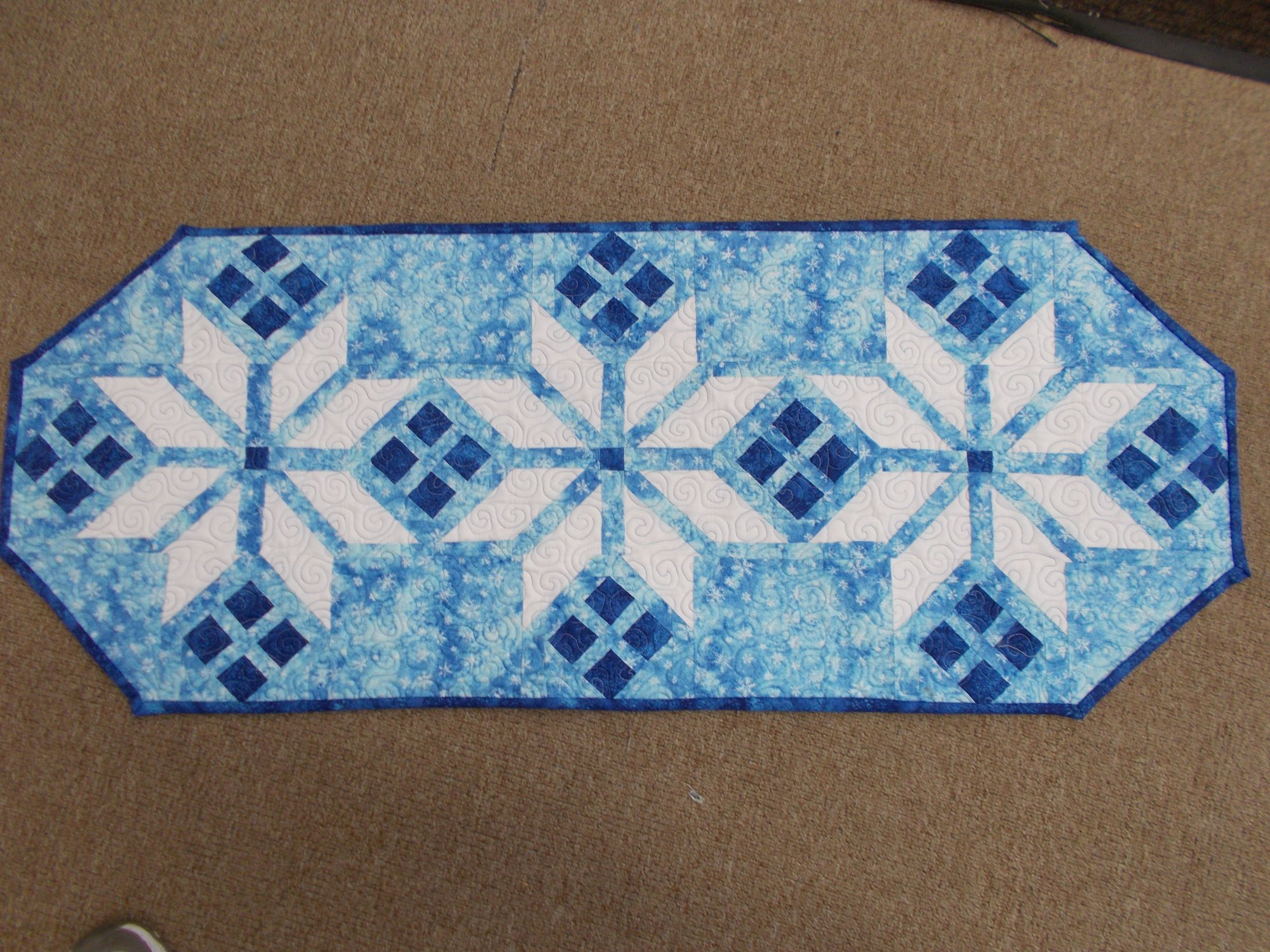 Icy Blue Table runner
