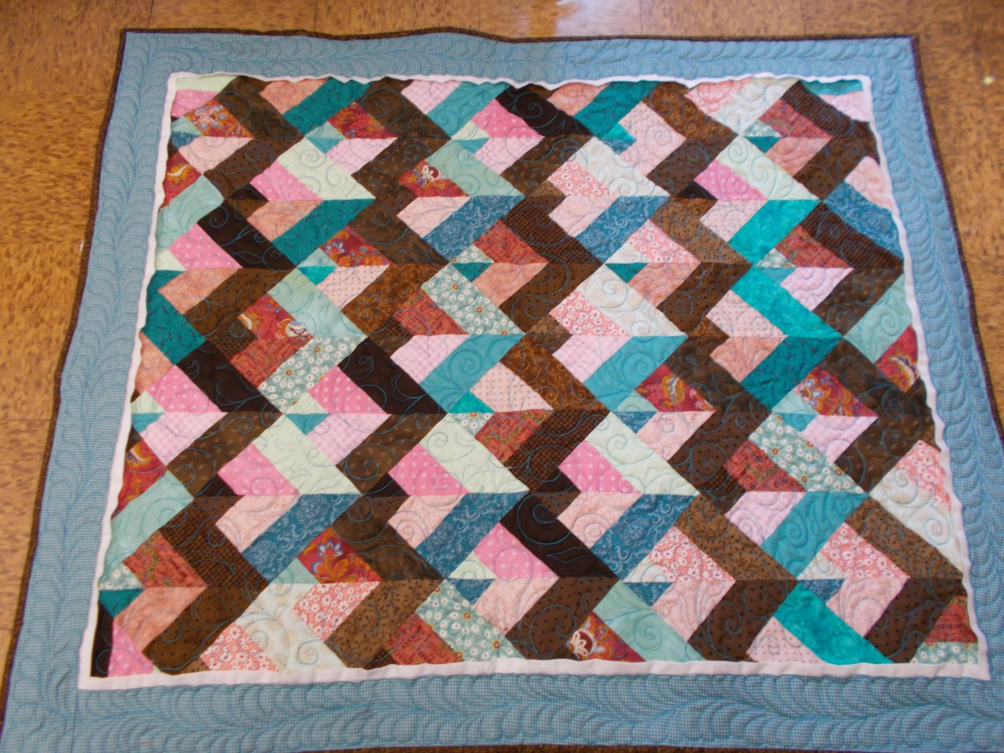 Braid small quilt or tablerunner 36 X 43