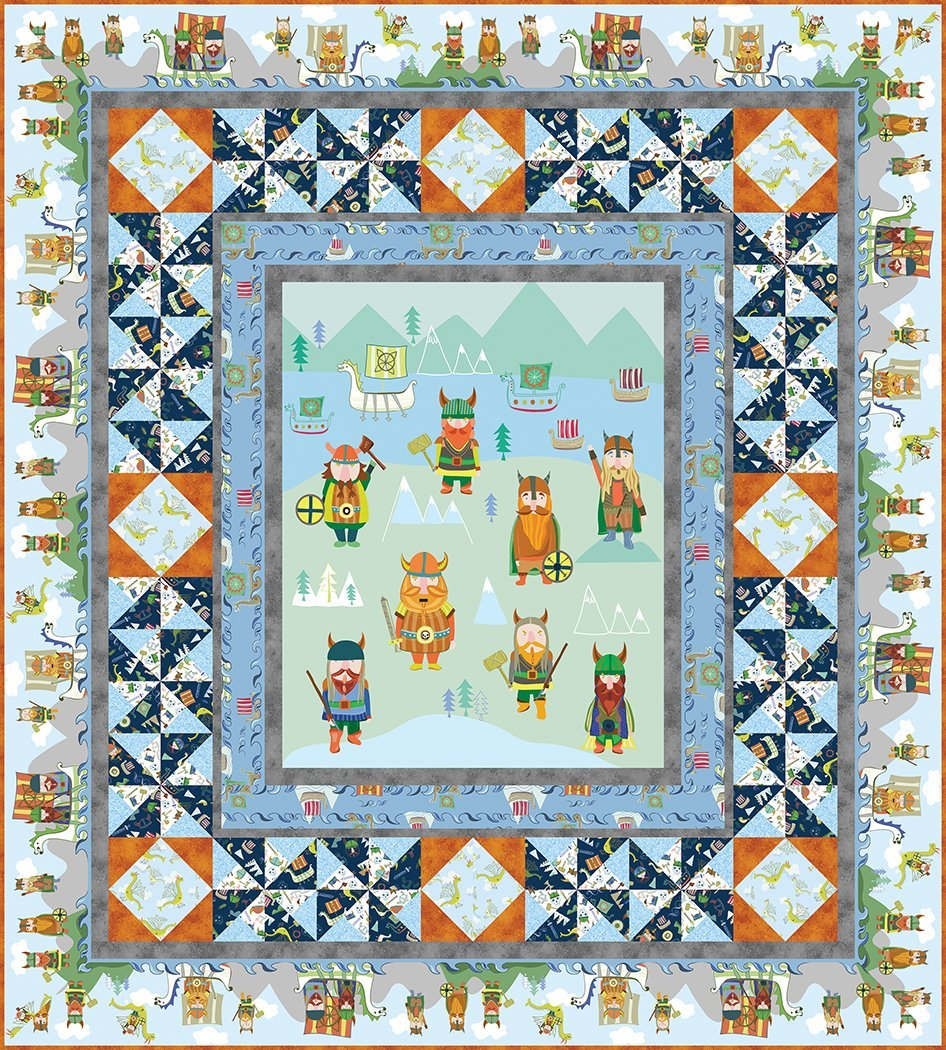 Here Come the Vikings Quilt Kit