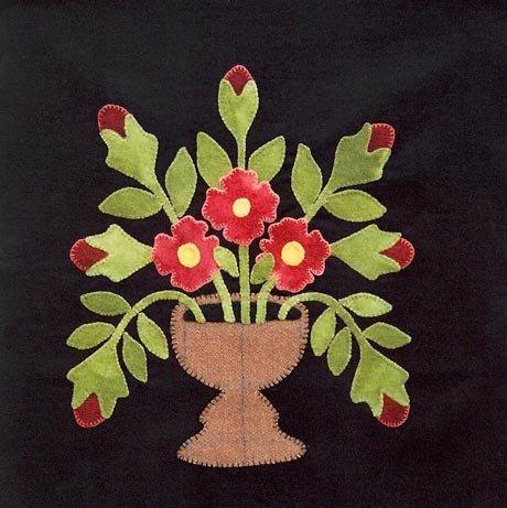 1847 Baltimore Bride's Quilt Block #8 Spring Bounty