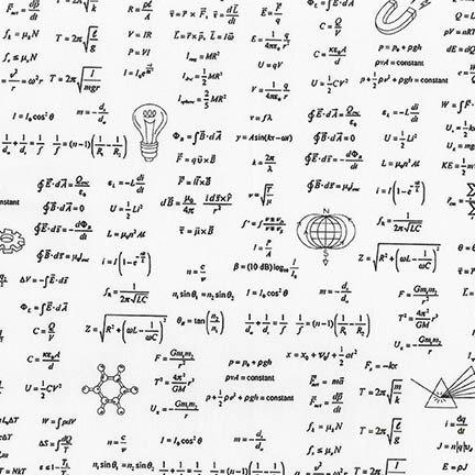 White Science Math Formulas