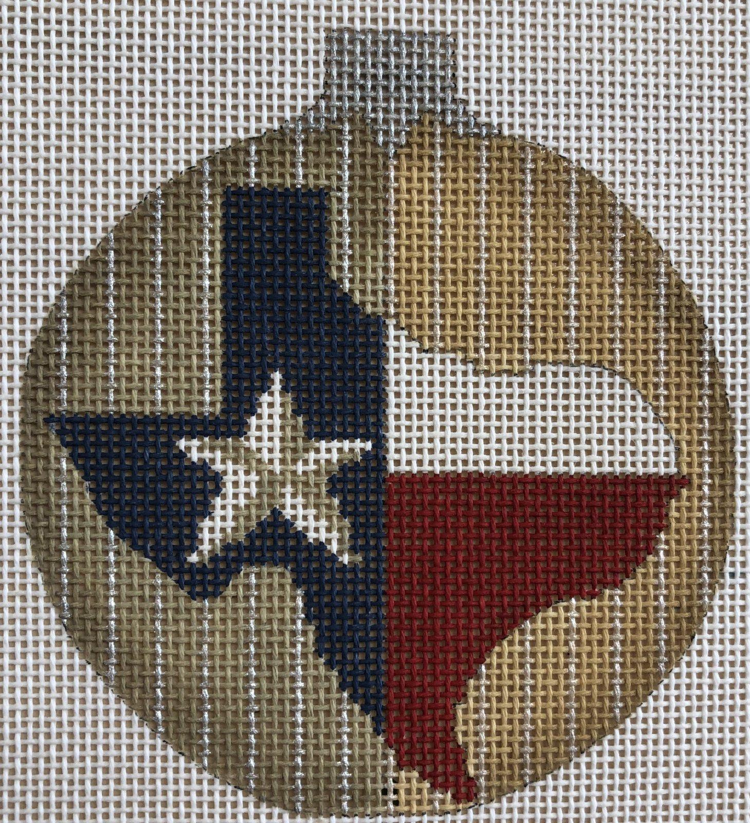 PC-KC State O' Texas Ball Ornament 3.5 Round 18M