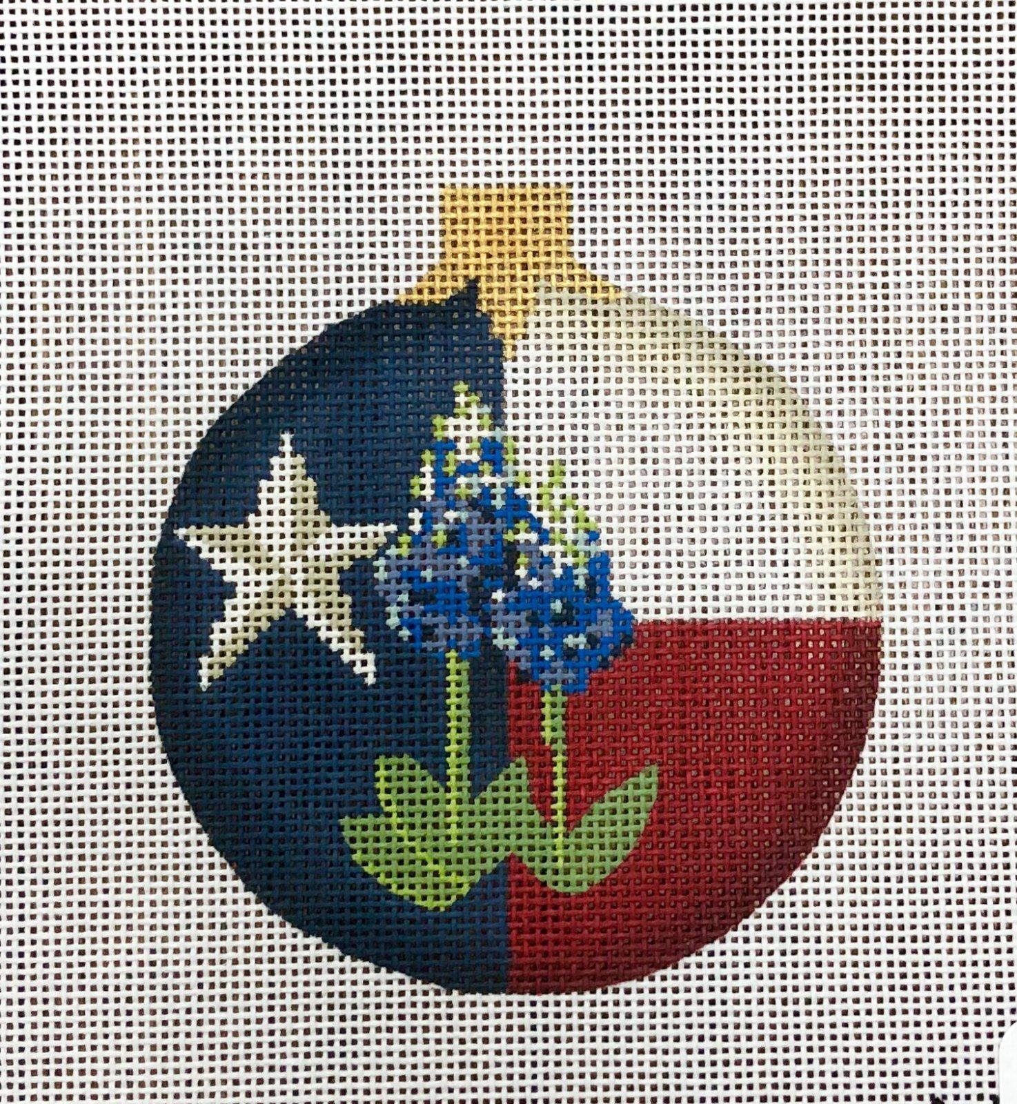 PC-KC Texas Blue Bonnet Ball Ornament