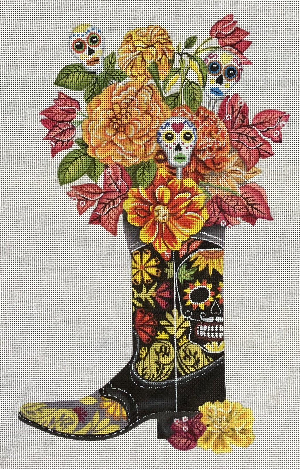 PC-Day of the Dead Boot   17 x 13   18M