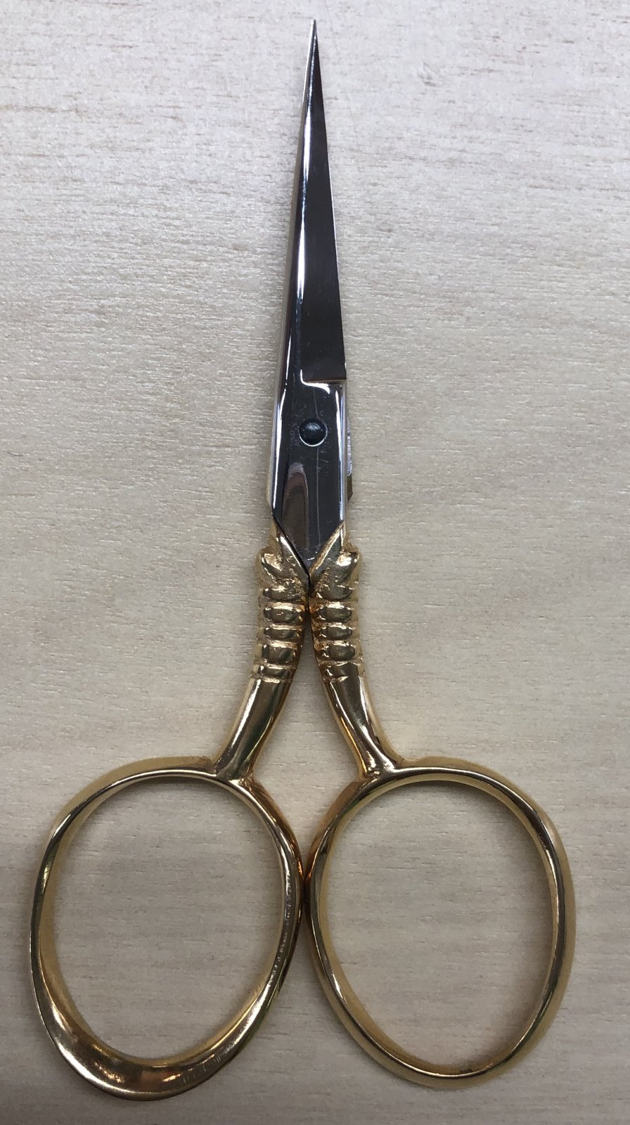 Scissors-DOVO Gold Plated Large Thumb