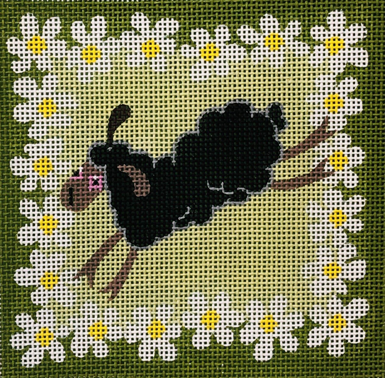 PC-Sheep with Flowers II 6x6