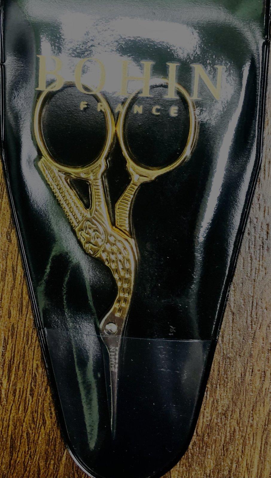 Scissors-Bohin Stork Embroidery