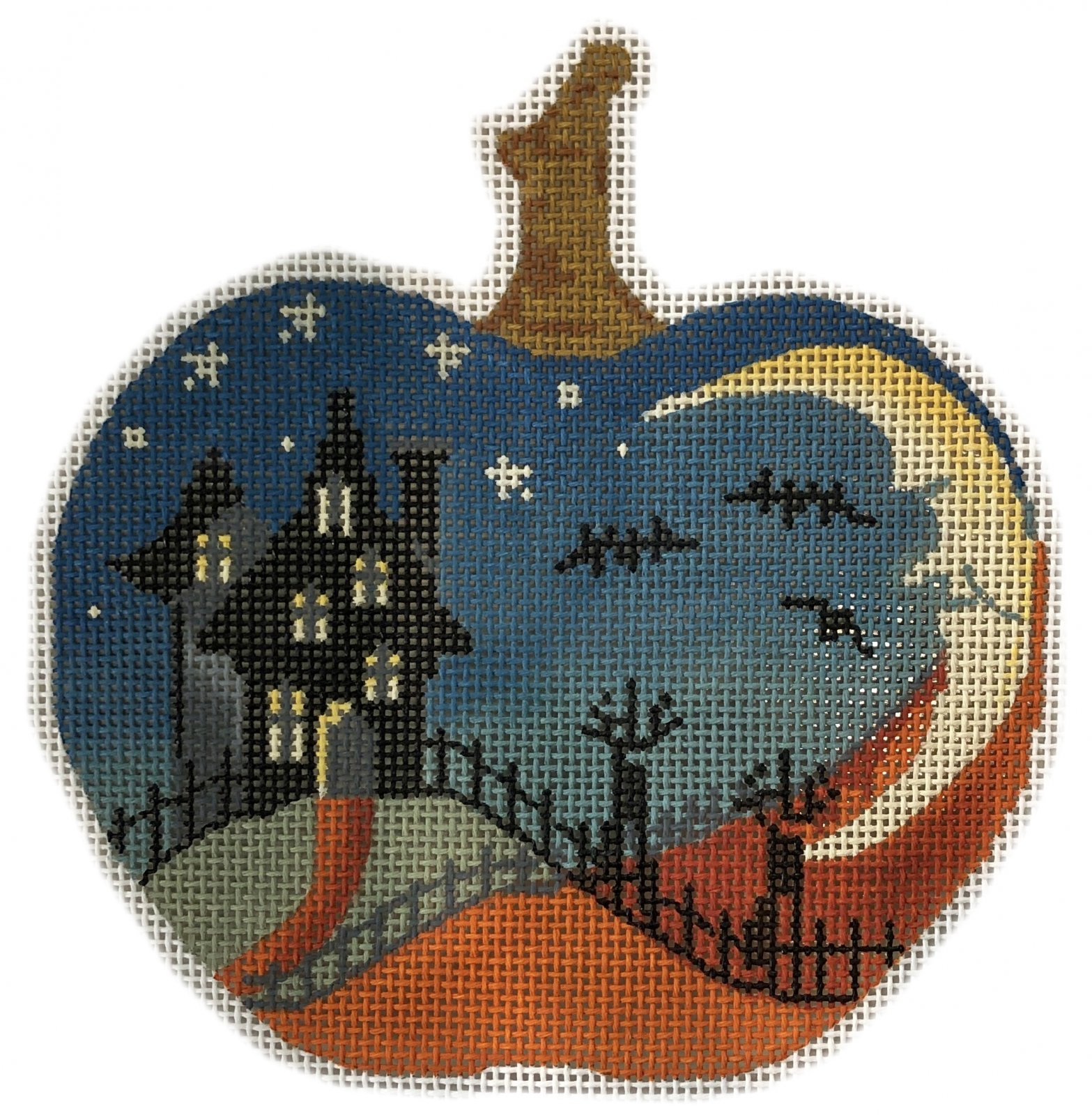 PC-House on Hill Silhoutte Pumpkin  4.75 x 4.75  18M