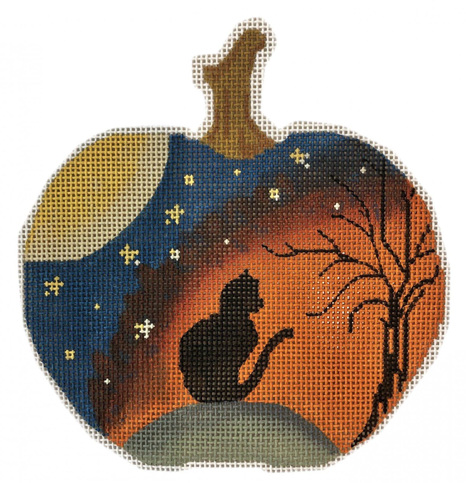 PC-Black Cat Silhoutte Pumpkin 4.75 x 4.75  18M