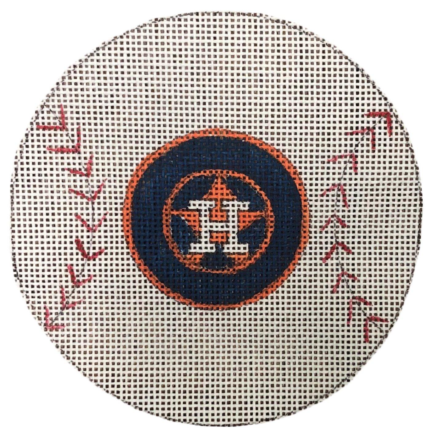 PC-Houston Astros Baseball Ornament  4 Round  18M