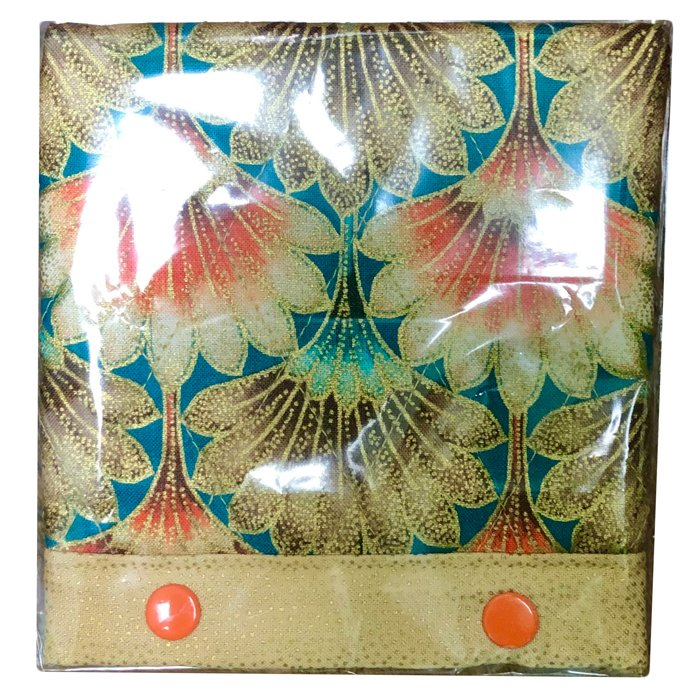 Magnifier Light Covers-Gold/Orange and Teal Flowers