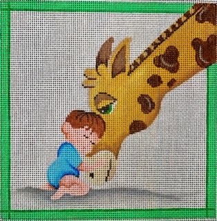 PC3375 Patti Mann 31007-B  Little Boy with Giraffe