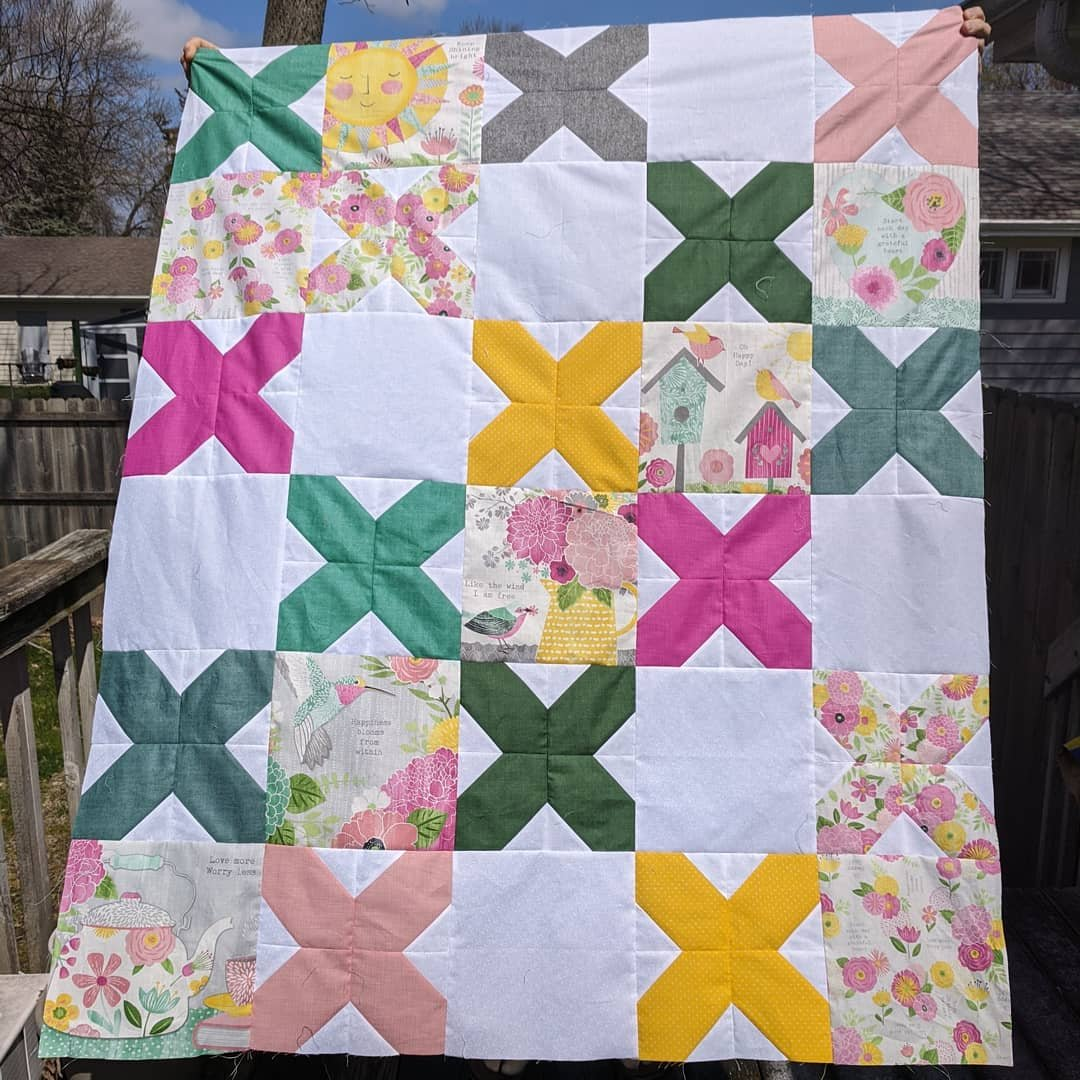 Cross Stitched Keep Shining Bright Quilt Kit