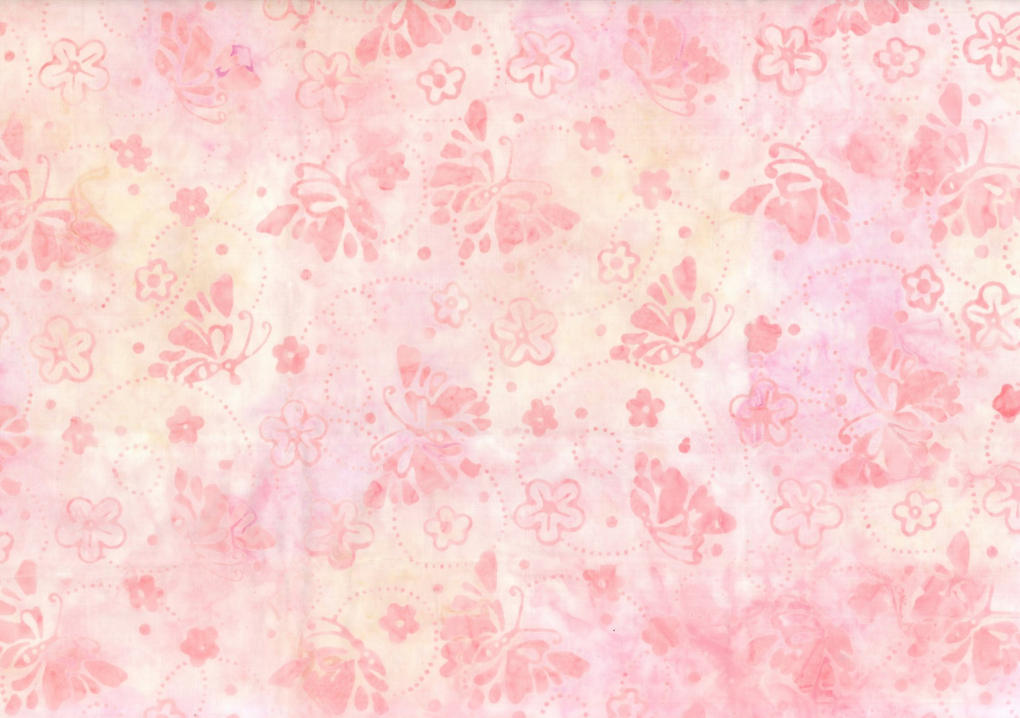 Wilmington Batik Pink Flowers