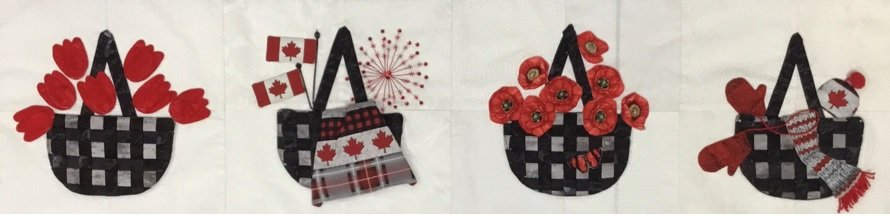 Quilters Trek - A Pop of Color - 4 Seasons of Ottawa KIT