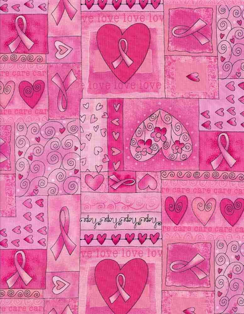 Breast Cancer Pink Ribbon - Timeless Treasures - 100% Cotton