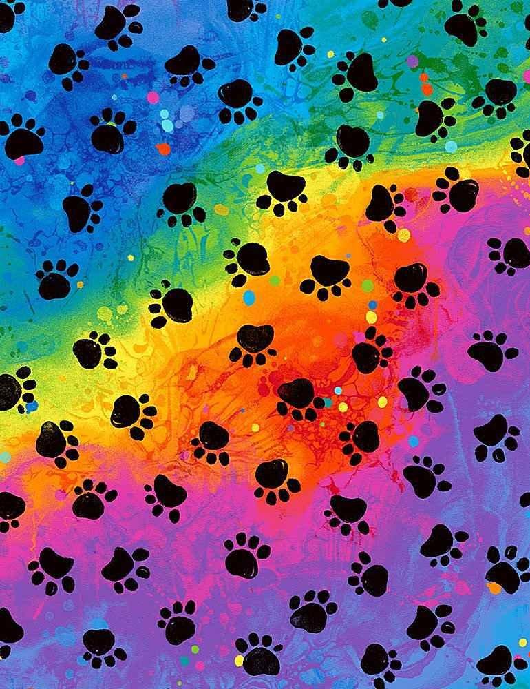 Rainbow Paws - Timeless Treasures - 100% Cotton