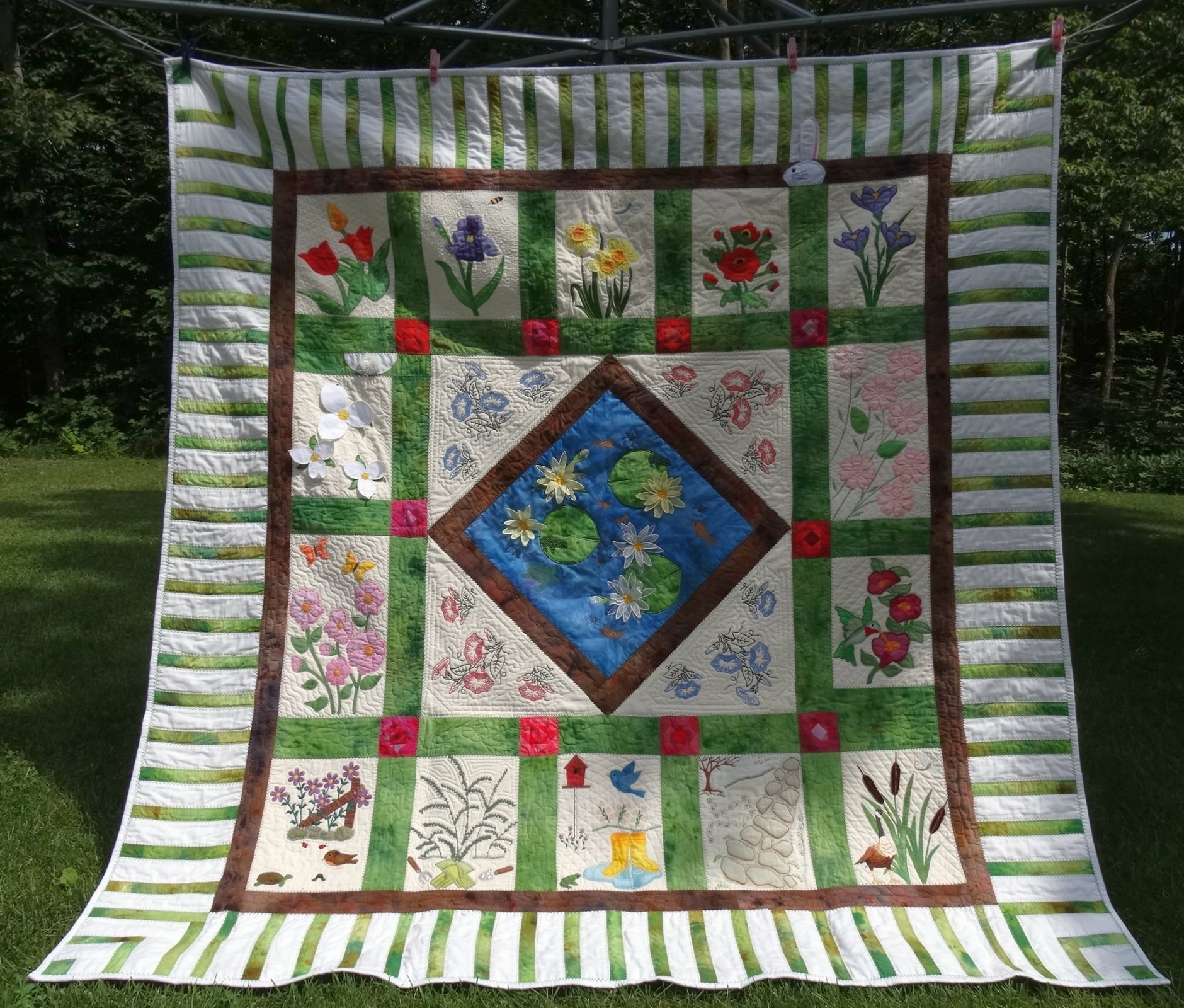 Friendship Garden: An Embroidery Block of the Month