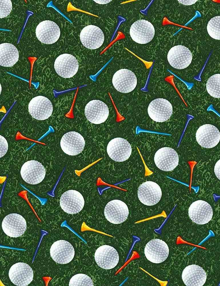 Golf Par for the Course - Timeless Treasures - 100% Cotton